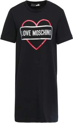 Love Moschino Printed Metallic Stretch-cotton Jersey Mini Dress