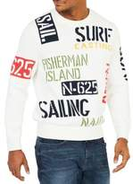 Nautica Sail and Surf Intarsia Cotton Sweatshirt