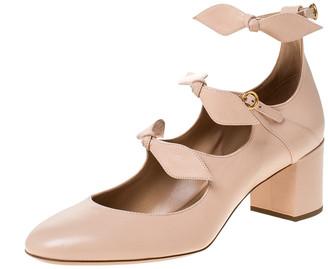 Chloé Beige Leather Bow Strap Sandals Size 41