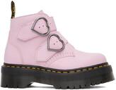 Thumbnail for your product : Dr. Martens Pink Devon Heart Platform Boots