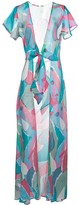 Cult Gaia Lanna abstract print cover-up