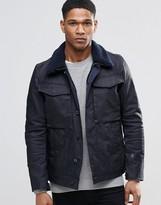 G Star G-Star Vodan Denim Jacket Fleece Collar