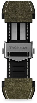 Tag Heuer Connected Green Leather & Rubber Watch Band