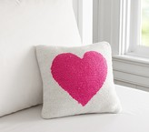 Pottery Barn Kids Heart Hook & Loop Decorative Pillow