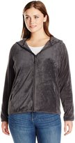 Jason Maxwell Women's Plus-Size Full Zip Hooded Fleece Jacket