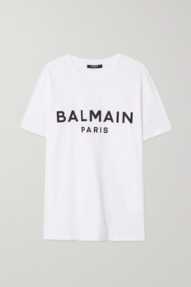 Balmain Printed Cotton-jersey T-shirt - White