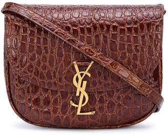 Saint Laurent Kaia crocodile-embossed leather bag