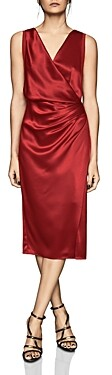 Reiss Lucine Draped Cocktail Dress