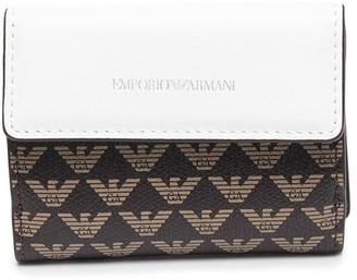 Emporio Armani Logo-Print Tri-Fold Wallet