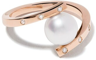 TASAKI 18kt rose gold A Fine Balance diamond and Akoya pearl ring