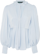 ALEXACHUNG Frilled Crepe De Chine Blouse