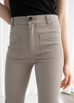 And other stories Cotton Twill Blend Trousers