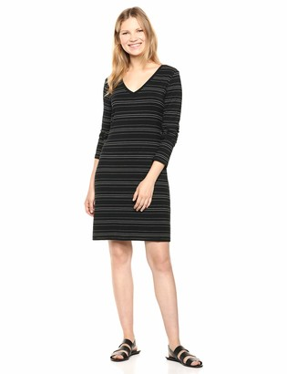 Daily Ritual Jersey Long-Sleeve V-Neck T-Shirt Dress Casual