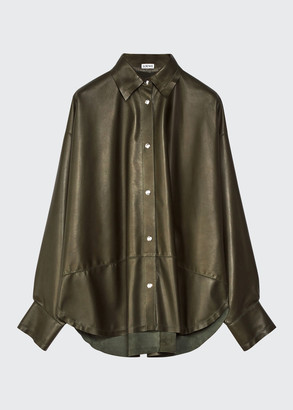 Loewe Oversized Leather Shirt