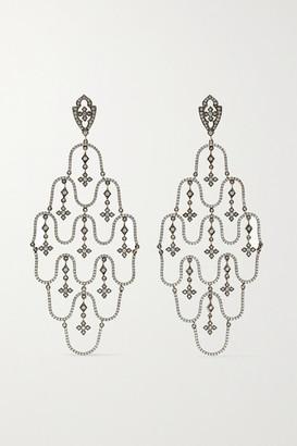 Loree Rodkin Chandelier 18-karat Rhodium White Gold Diamond Earrings