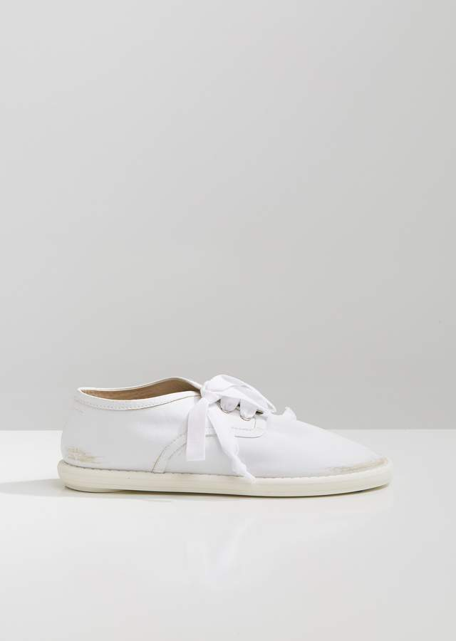MM6 MAISON MARGIELA Distressed Leather Lace Up Oxfords