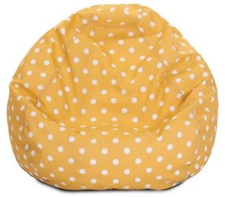 Majestic Home Goods Indoor Outdoor Citrus Ikat Dot Classic Bean Bag Chair 28 in L x 28 in W x 22 in H