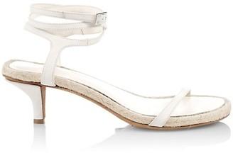 3.1 Phillip Lim Yasmine Ankle-Strap Leather Espadrille Sandals
