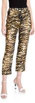 Rachel Comey Council Tiger-Print Linen Pants
