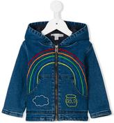 Stella McCartney Bubba rainbow embroidered jacket - kids - Cotton/Spandex/Elastane - 18 mth
