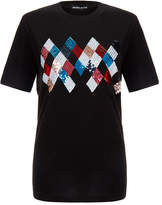 Markus Lupfer Alex Black Harlequin Sequin T-Shirt