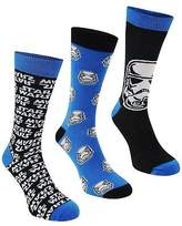 Star Wars 3x Mens Crew Socks Novelty Ankle Pairs Trainer Accessories