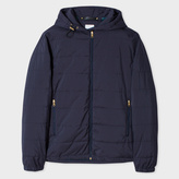 Paul Smith Men's Navy Wadded Zip-Front Hooded Jacket