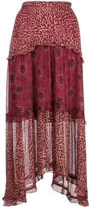 BA&SH Tiered Midi Skirt