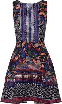 Saloni Jess Printed Cloque Mini Dress