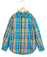 Ralph Lauren Boys' Plaid Patterned Flannel Shirt