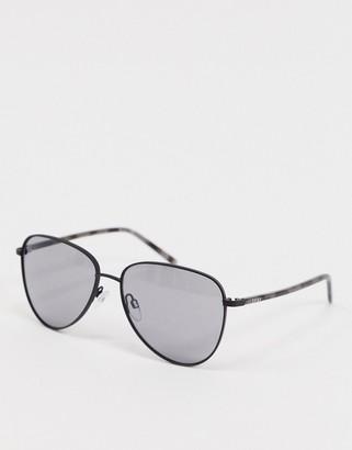 DKNY City Native rounded aviator sunglasses
