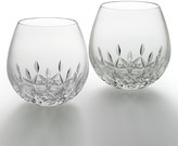 Waterford Crystal Lismore Nouveau Light Red Wine Glasses Set of 2