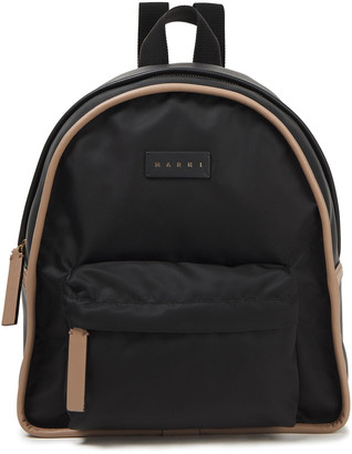 Marni Faux Leather-paneled Shell Backpack