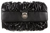Marc Jacobs Leather Trimmed Ruched Clutch
