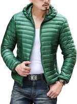 CHERRY CHICK 2016 Men's Packable Feather Down Jacket with Hood