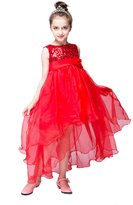 YMING Girls Sequin Dress Mesh Party High Low Wedding Princess Dresses