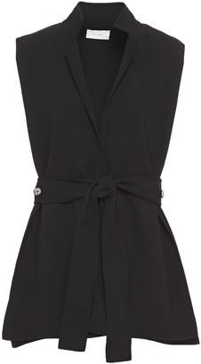 The Row Frieden Belted Wool-blend Crepe Vest