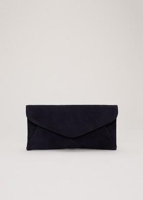 Phase Eight Wendie Suede Envelope Clutch Bag