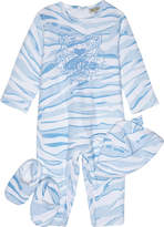 Kenzo Tiger print cotton baby outfit set three pieces 1-12 months