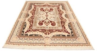 Ecarpetgallery Oriental Hand Knotted Wool Ivory/Red/Gray Area Rug
