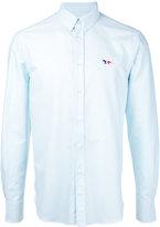 MAISON KITSUNÉ embroidered fox button-down shirt - men - Cotton - 40