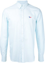 MAISON KITSUNÉ embroidered fox button-down shirt - men - Cotton - 42