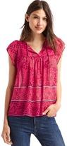 Gap Floral chiffon blouse