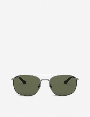 Ray-Ban RB3654 metal square-frame sunglasses