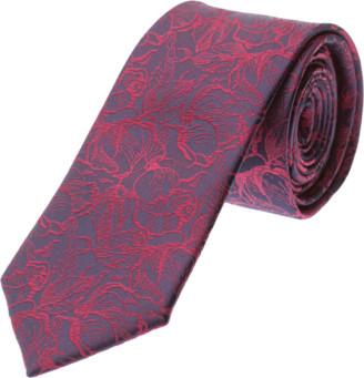 yd. Burgundy/Navy Presley Paisley 6.5cm Tie