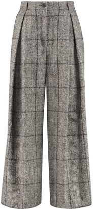 Dolce & Gabbana Checked Wide-leg Trousers