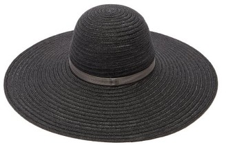 Maison Michel Blanche Straw Sun Hat - Black