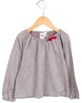 Petit Bateau Girls' Long Sleeve Polka Dot Top