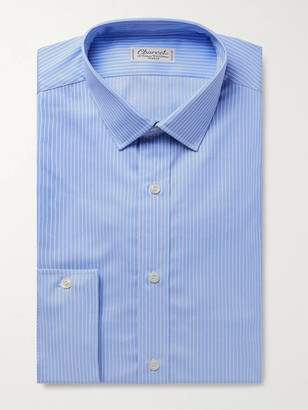 Charvet Light-Blue Striped Cotton Shirt