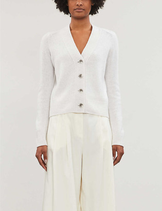 Vince Relaxed-fit speckled-knit cashmere cardigan